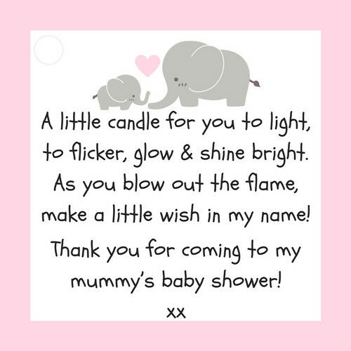 10 X BABY SHOWER SCENTED CANDLE FAVOURS GIRL PINK GIFT BOX  THANK YOU
