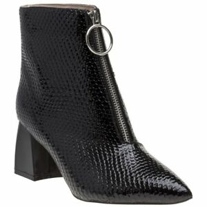 02a283bcda4 Image is loading New-Womens-Public-Desire-Black-Instinct-Synthetic-Boots-