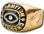 FANTASY-FOOTBALL-CHAMPION-24K-GOLD-TROPHY-RING-FOOTBALL-ON-SIDES-SUPER-BOWL thumbnail 1