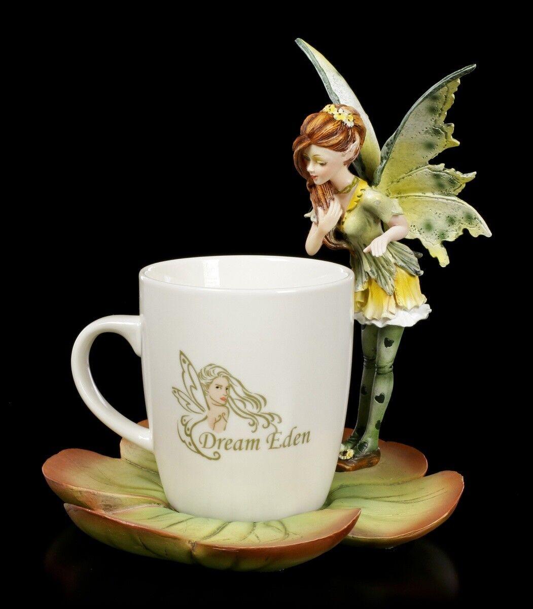 Figure Motif Elfe avec Tasse - vert Fairy Siby - Fantasy Tasse Fées Tasse
