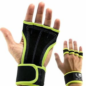 0131ca24a0 Image is loading Mava-Sports-Leather-Padding-Gloves-Cross-Training-W-