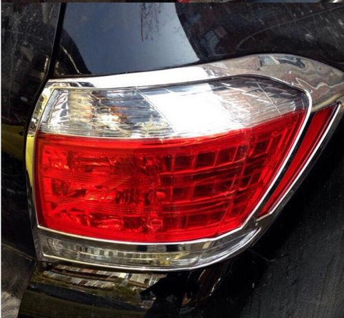 Chrome Rear Light Tail Lamp Cover Trim 2pcs for Toyota Highlander 2011 2012 2013