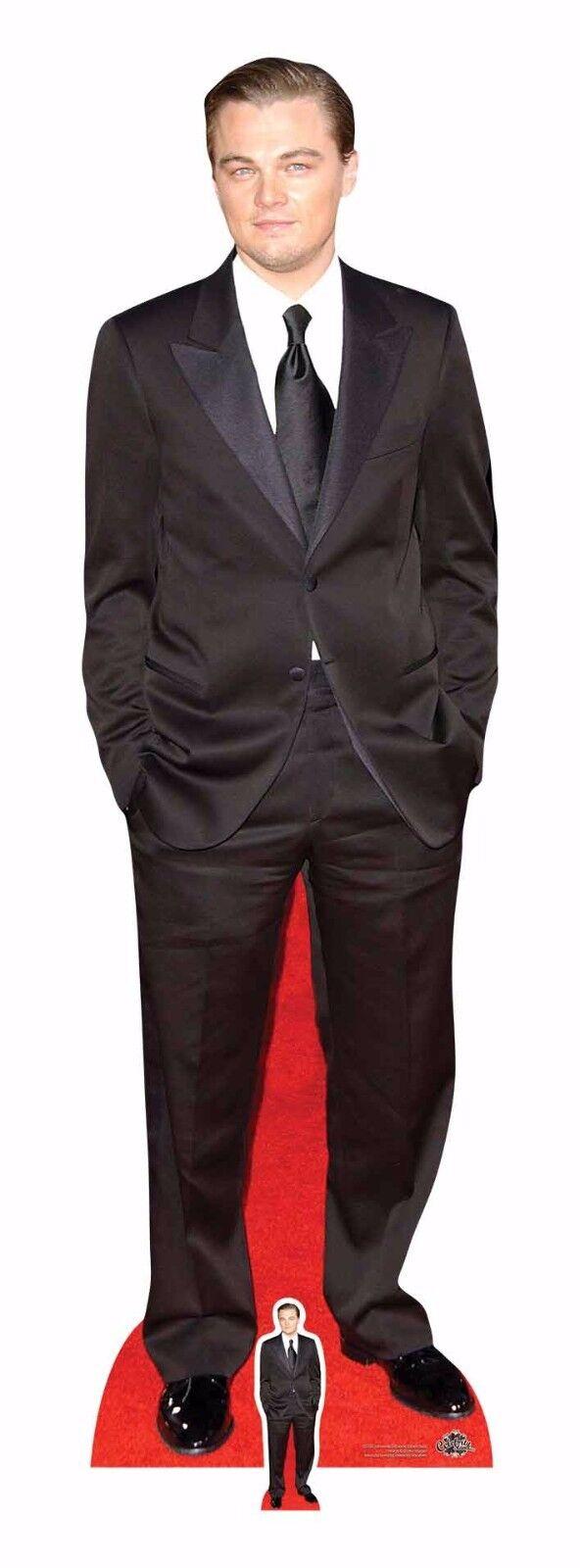 Leonardo DiCaprio Schwarzer Anzug Anzug Anzug lebensechte Größe und Pappfigur   Aufsteller | Maßstab ist der Grundstein, Qualität ist Säulenbalken, Preis ist Leiter  | Sale Düsseldorf  163318