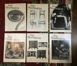 FINE WOODWORKING MAGAZINE   LOT OF 6  YEAR 1980