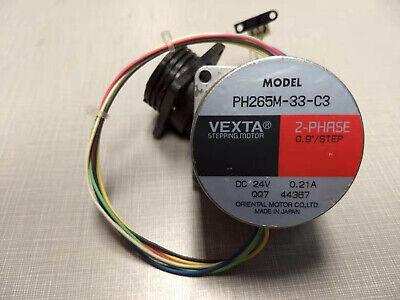 Oriental Vexta Stepping Motor PH265M-33-C3 2-Phase 0.9°//Step 24V DC 0.21A