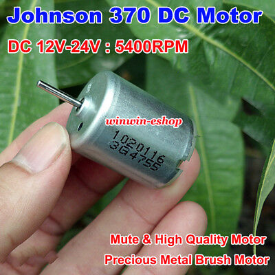 DC3V~9V 6350RPM Mini Mute 370 Motor Precious Metal Brush Motor 2mm shaft for DIY