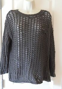 Joie Open Knit Olive Sweater With Attached T Shirt Underneath Size