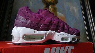 Nike Women's Air Max 95 PRM Size 6.5 7 True Berry Bordeaux White 807443 602 | eBay