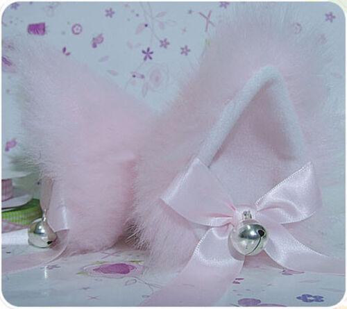 silver bell Anime Cosplay Party Accessoire Filles Long Fourrure Chat Fox Oreilles Pince à cheveux