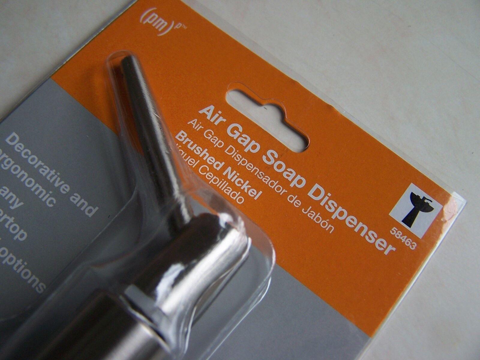 Brushed Nickel 58463 Air Gap Soap Dispenser