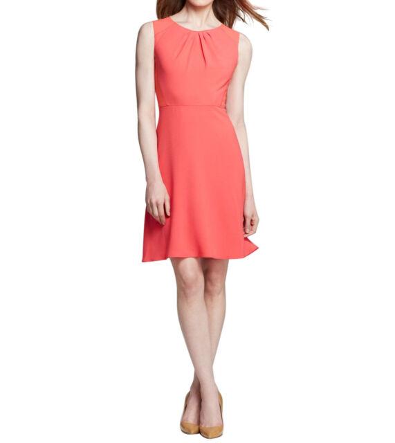 ab83eb3f54344 Elie Tahari Rosario Pink Crew Neck Sleeveless Knee Length Dress 10 ...