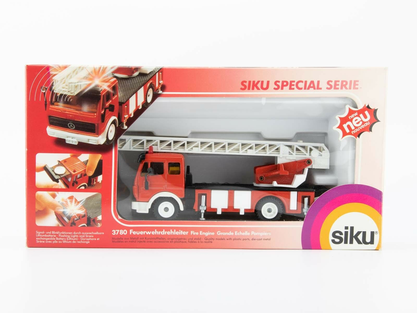SIKU 3780 pompiers Drehleiter (Mercedes SK) neuf dans sa boîte - 2506-181