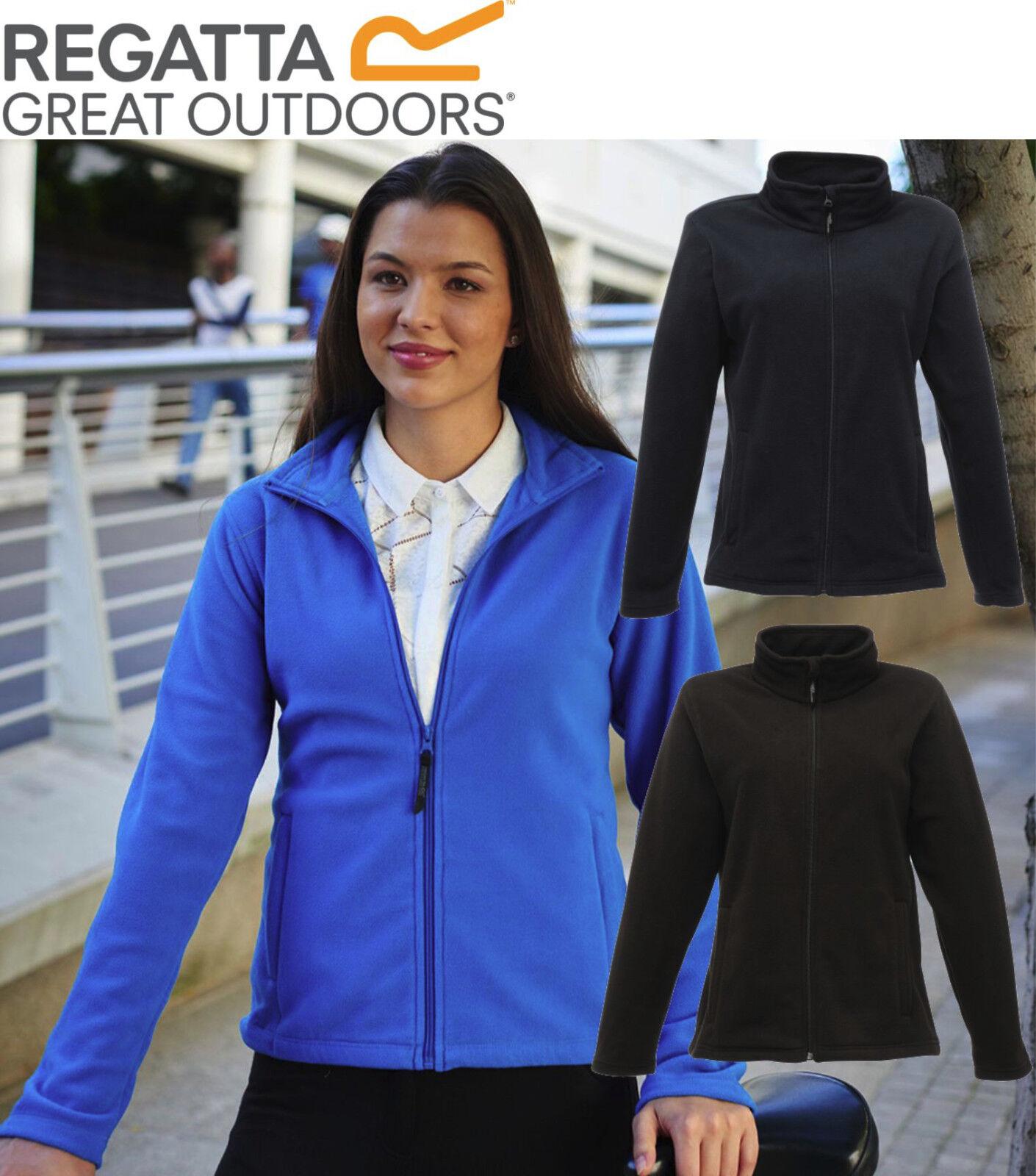 Regatta Ladies Womens Micro Full Zip Fleece Top Jacket