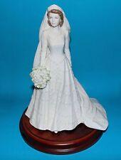 COALPORT figurine ornament royal ' Queen,wedding ' LTD ED  1st  +plinth & cert