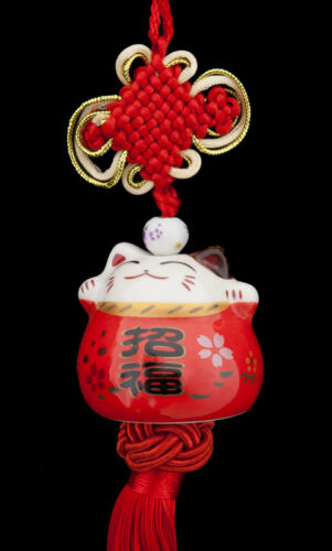 Suspension Maneki Neko-chat Japonais 483-SD1 Porte Bonheur-grand Modele