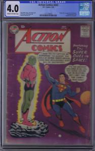 Action Comics #242 DC 1958 CGC 4.0 ( VERY GOOD ) 1st appearance/Origin Brainiac