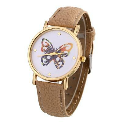 Geneva Luxury Women Watches Butterfly Leather Girls Fashion Quartz Wrist Watch