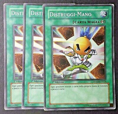 DISTRUGGI CARTE in Italiano Set 3 Carte Comune da Deck Mazzo YUGIOH