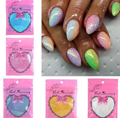 Glitter Effect Mermaid Nail Art Powder Dust Magic Glimmer Trend 10ml 5 color
