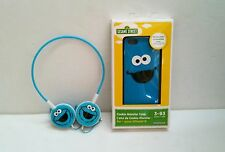 Brand New Cookie Monster Headset Headphones and Silicone Case for iPhone 5 / 5S