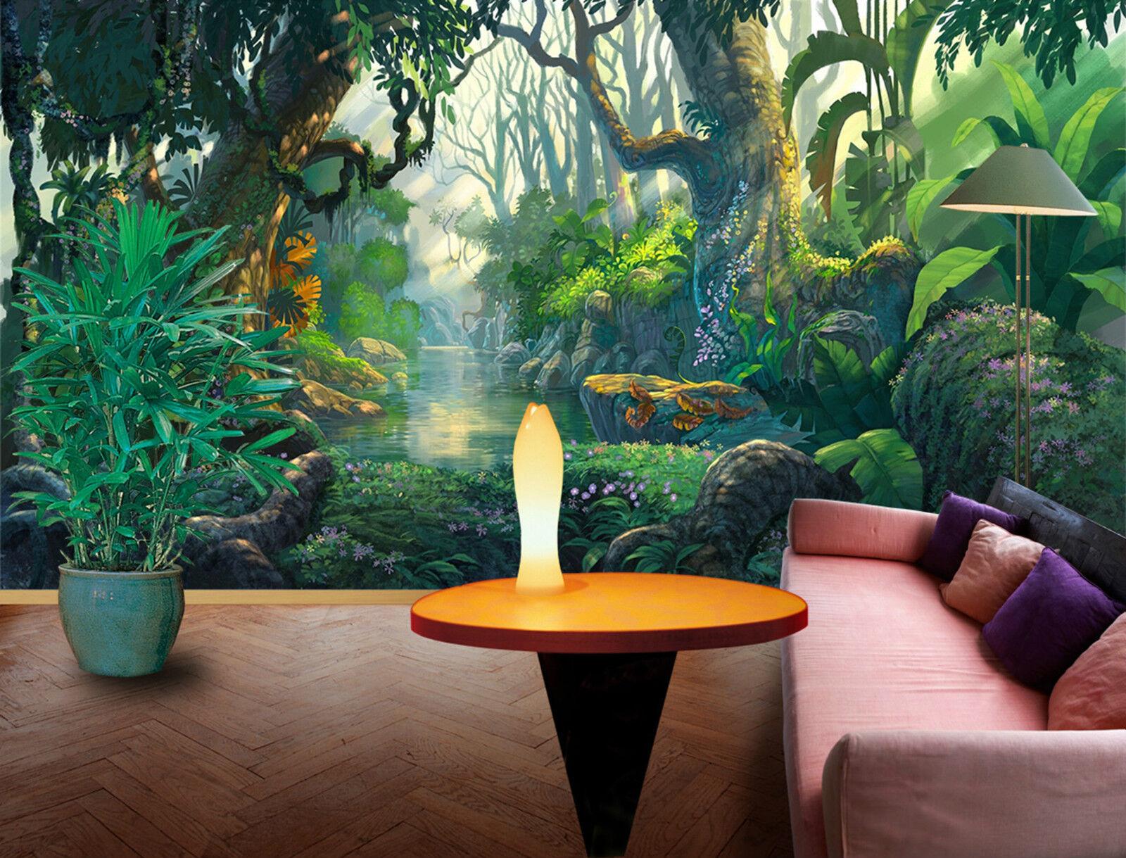 3D Dschungel 379 Fototapeten Wandbild Fototapete Bild Tapete Familie Kinder DE