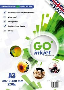 100-Sheets-A3-Glossy-Photo-Paper-230gsm-Extra-5-Sheets-Per-Pack-by-GO-Inkjet