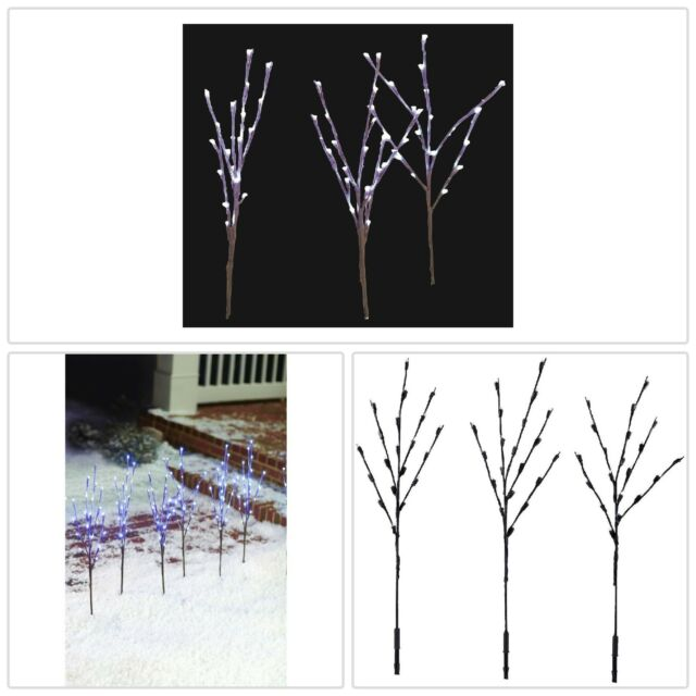 LED Pathway Twig Lights 3 Set Plug In Traditional Outdoor