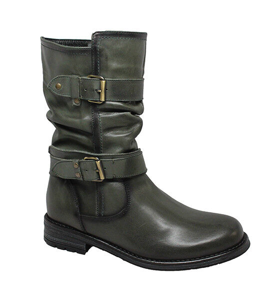 ERIC MICHAEL Donna NOELLE MID CALF BOOT BOOT BOOT ZIP MADE IN PORTUGAL abb7be