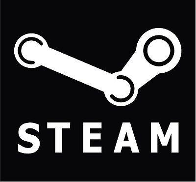 STEAM Logo JUMBO Sticker Decal- PC Gaming, Steam, Valve