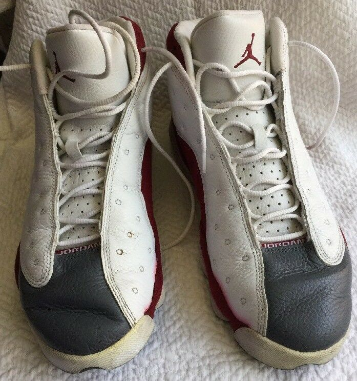 Nike Air Jordan 13 Retro Grey Toe Size 10.5 Men's 310004 161