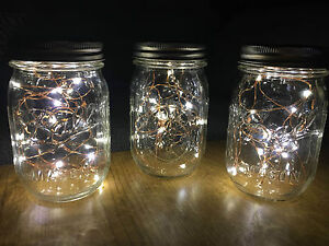 Authentic Mason Jar Fairy Lights Vintage Rustic Wedding