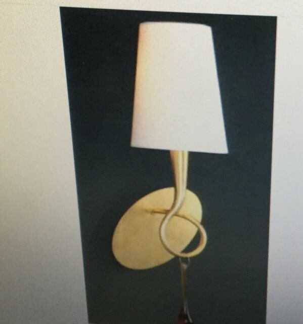 Mantra Lighting 3548 Paola 1 Light Wall Sconce Gold Painting