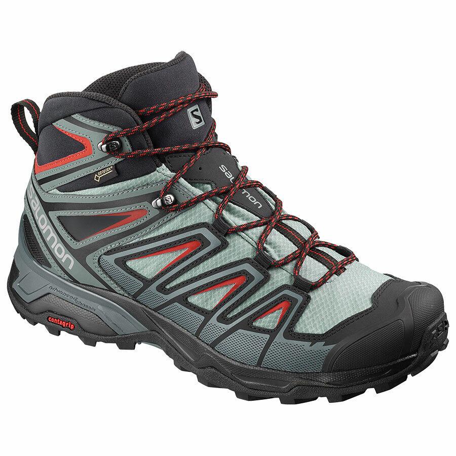 {L40662000} SALOMON Men's X ULTRA 3 Mid GTX Hiking zapatos-Lead Stormy Weather NEW