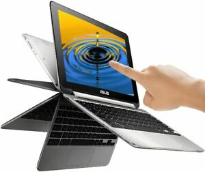 """ASUS 10.1"""" 2-in-1 TOUCHSCREEN Flip Chromebook Quad Core Processor 16GB SSD 4GB"""
