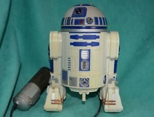 vtg-non-functioning-R2D2-robot-w-attached-controller-Shelf-sitter-Star-Wars