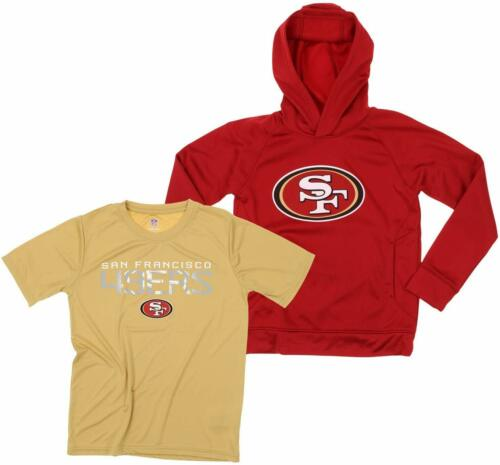 NFL Youth San Francisco 49ers Team Performance Hoodie and Tee Combo Set