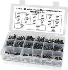 540 Pcs Electrolytic Capacitor Assortment Kit Set Box 01uf 1000uf 15 Values