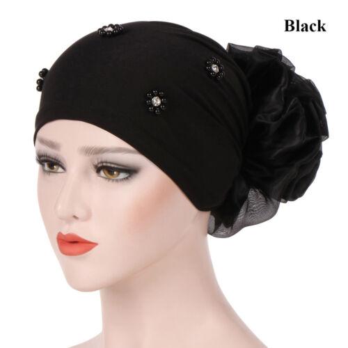 Women/'s Big Flower Cancer Chemo Hat Muslim Hijab Hair Loss Head Scarf Turban Cap