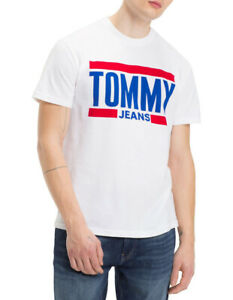 2cac946befea84 Image is loading NEW-Tommy-Jeans-TJM-ESSENTIAL-BLOCK-TEE-White