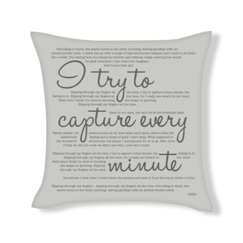 UFCU006 ABBA I try to capture every minute Song Lyrics Cushion Cover Gift