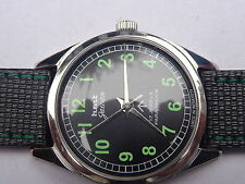 HMT GAWAN  BLACK COLOR NICE DIAL NUMERIC FIGURE RUNNING WATCH