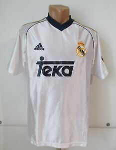 huge selection of 85635 243d0 Details about REAL MADRID 1998/1999/2000 HOME FOOTBALL SHIRT SOCCER JERSEY  CAMISETA ADIDAS YXL