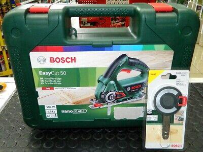 in Valigetta Profondit/à di Taglio in Legno 50 mm 500 Watt Bosch Easycut 50 Sega Tecnologia Nanoblade
