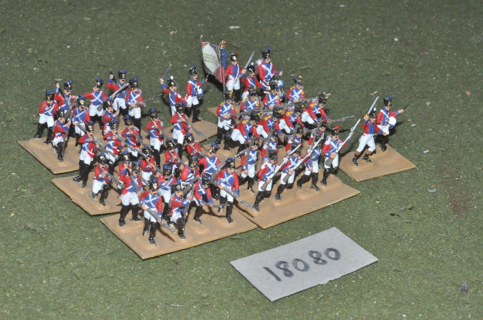 20mm napoleonic   swiss - plastic infantry 50 figs - inf (18080)