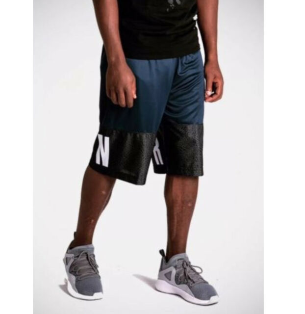 00141ef7f84a2a Nike Men Air Jordan Blockout Basketball Shorts Dri-fit Aj6559 Blue Grey 2xl