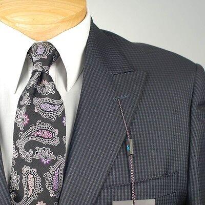 Steve Harvey Mens Check Regular Fit Suit Separate Vest