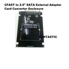 "NEW CFAST to 2.5"" SATA External Adapter Card Converter Enclosure Box Caddy Case"