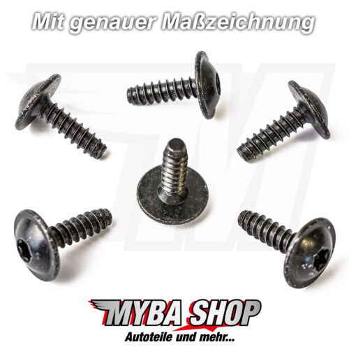 5x Universal Torx Befestigungs Schraube aus Metall für VW und Audi N90775001