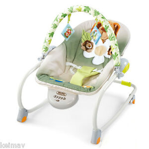 Musical-Rocking-Chair-Vibrating-Baby-Bouncer-Electric-Baby-chair-green