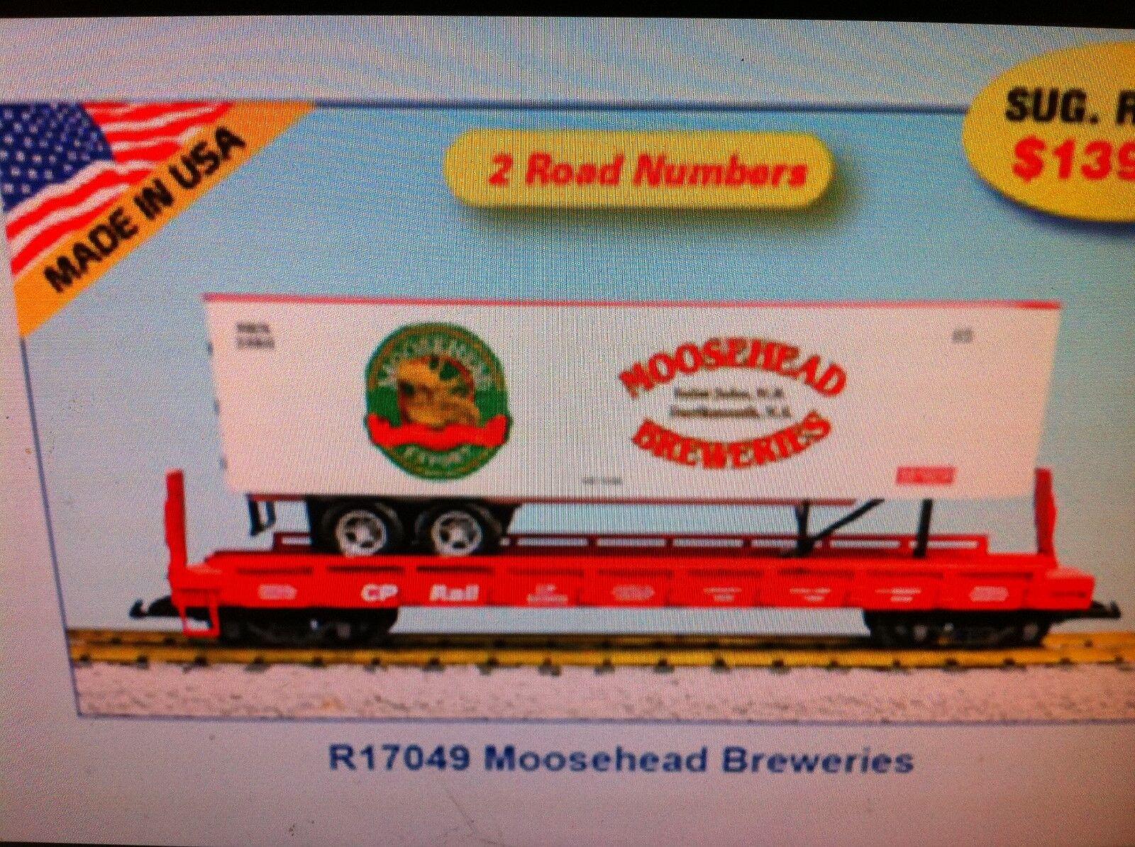 envío gratis USA Trains G Escala Escala Escala Plana Coche con remolque R17049 MOOSEHEAD cervecerías  hasta 60% de descuento